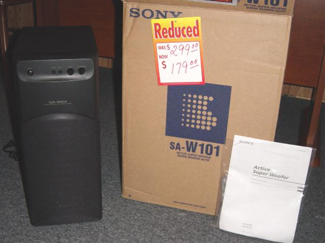 Home Theater Subwoofer >> SONY SA-W101 Subwoofer
